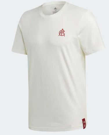 Arsenal FC Street Graphic T-Shirt 19/20, White, Front
