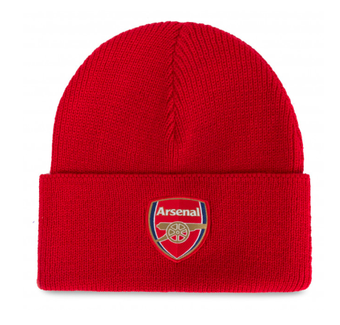 red adidas Arsenal tuque with a cuff