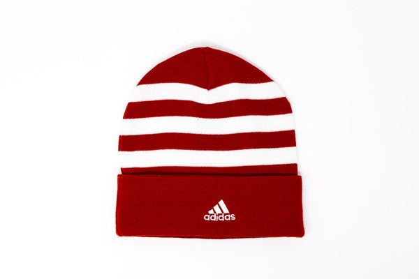 Adidas Bayern Munich White & Red 3-Stripes Tuque, Back View