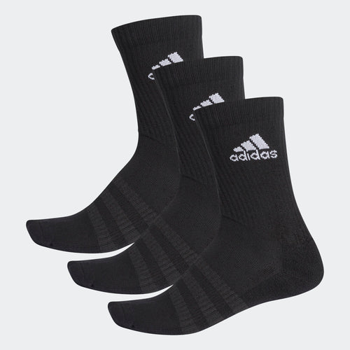 Adidas Cushioned Crew Socks (3-Pack), Black