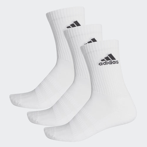 Adidas Cushioned Crew Socks (3-Pack), White