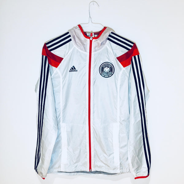 Adidas Germany Woven Jacket, Long Sleeve, White