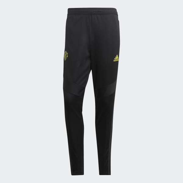Adidas Manchester United Training Pants 19/20, Black & Fluo