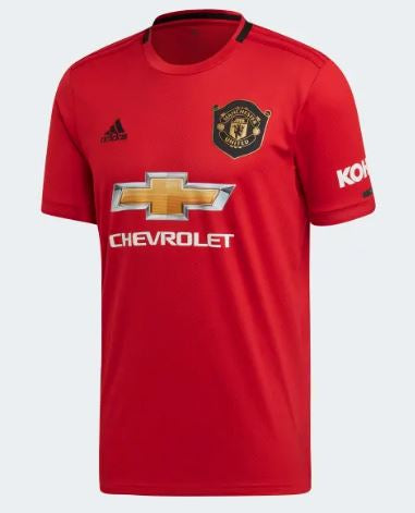 Adidas Manchester United Home Youth Soccer Jersey 19/20, Red