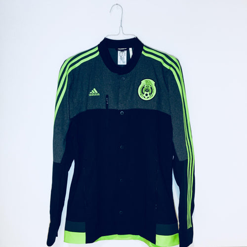Adidas Mexico Woven Anthem Jacket, Long Sleeve, Black & Neon