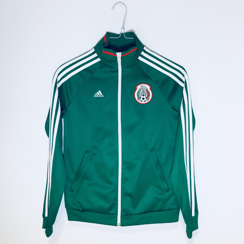 Adidas Mexico Women's Full-Zip Jacket, Long Sleeve, Green & White