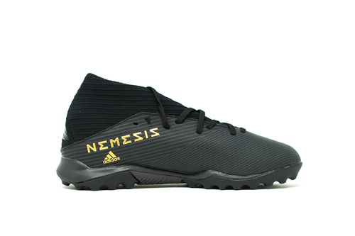 Adidas Nemeziz 19.3 TF Soccer Cleat, Black, Synthetic Upper, Rubber Studs, Side View