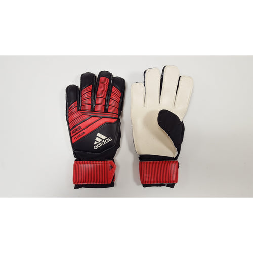Adidas Predator Pro FS Goalkeeper Gloves, Black & Red, Flat Cut, Finger Protection