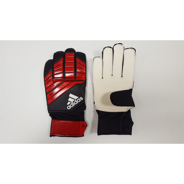 Adidas Predator Youth Goalkeeper Gloves, Red, Flat Cut