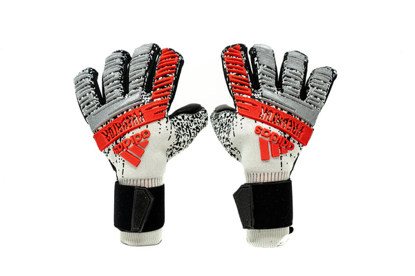 Adidas Predator Pro FS Goalkeeper, Silver, Negative Cut, Finger Protection
