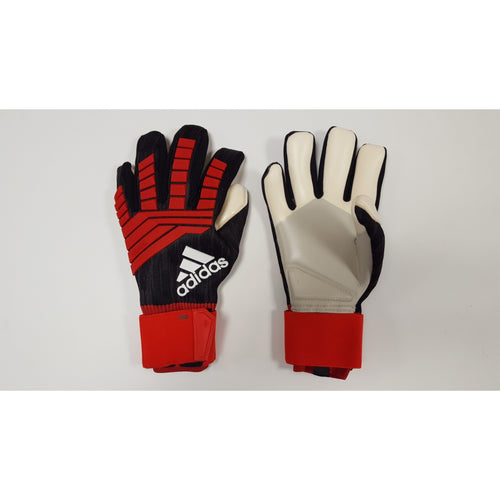 Adidas Predator Pro Goalkeeper Gloves, Black & Red, Negative Cut