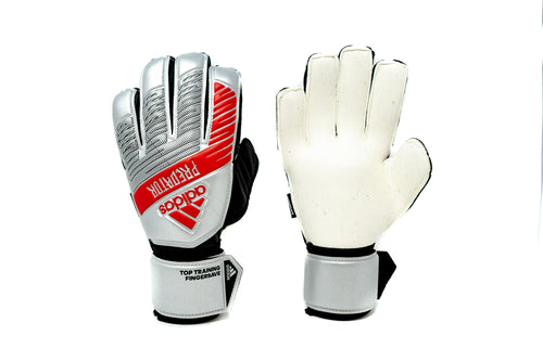 Adidas Predator Trainer FS Goalkeeper, Silver, Flat Cut, Finger Protection