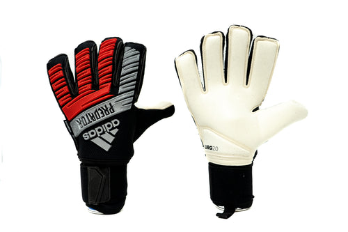 Adidas Predator Ultimate Goalkeeper Gloves, Red & Black, Flat Cut, Finger Protection