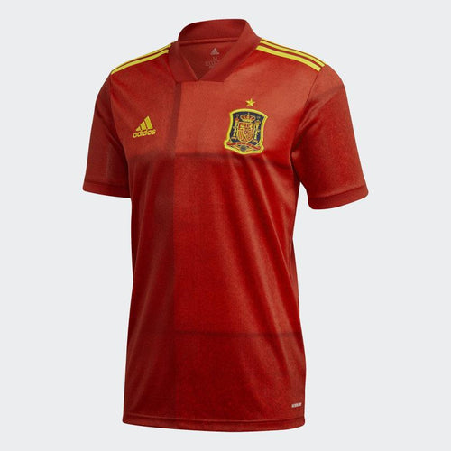 Adidas Spain Euro 2020 Home Soccer Jersey, Front View