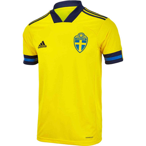 Adidas Sweden Euro 2020 Home Soccer Jersey