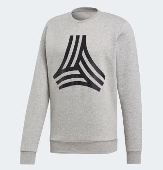 Adidas Tango Graphic Crewneck, Long Sleeve, Grey
