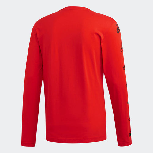Adidas Tango Graphic Long Sleeve Shirt, Red, Back View