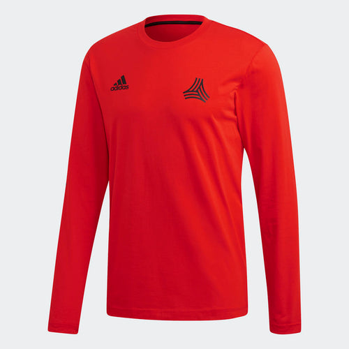 Adidas Tango Graphic Long Sleeve Shirt, Red, Front View