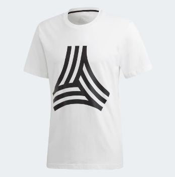 Adidas Tango Graphic T-Shirt, White, Front View