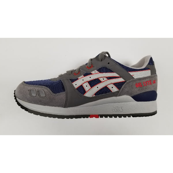 Asics Gel-Lyte III, Navy & Grey, Side View