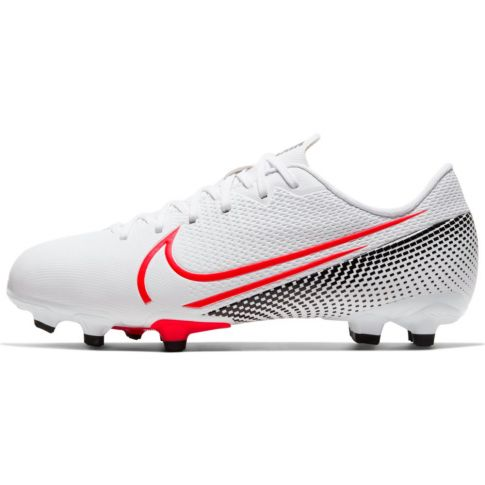 Kids Nike Mercurial Vapor 13 Academy FG Soccer Cleats - White/Red