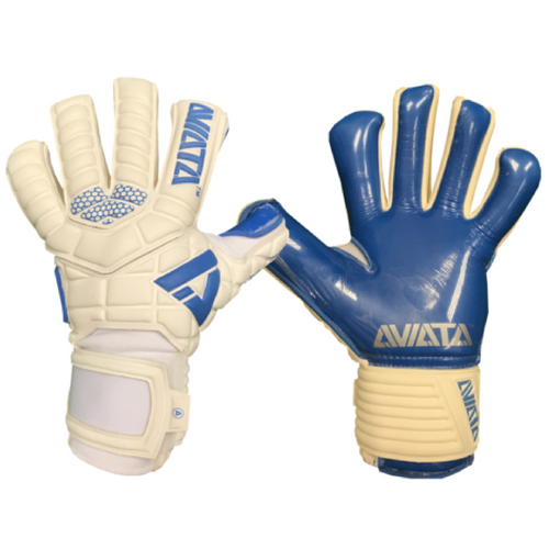 Aviata Stretta Magnetik Yeti Koncept Goalkeeper Gloves, Blue, Hybrid Roll-Finger Negative Cut