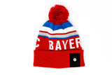 Bayern Munich Knitted POM Beanie, Red-White-Blue