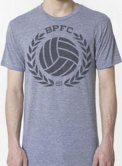 Bumpy Pitch Crest T-Shirt, Short Sleeve,Grey