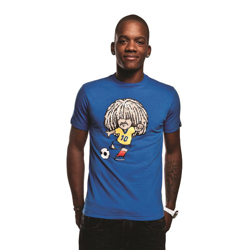 COPA Football Carlos Short Sleeve Blue T-Shirt