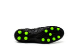 Akuna Cinquestelle Classica Special Edtion FG Soccer Cleat, Black/Green, K-Leather Upper, 12 Conical Studs, Outsole View