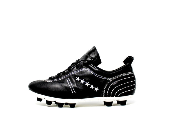 Akuna Cinquestelle Colibri Special Edition FG Soccer Cleats, Calf Leather, 12 Conical Studs, Side View
