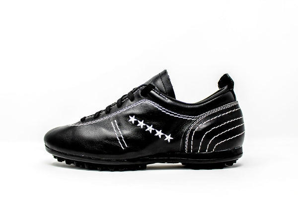 Akuna Cinquestelle Colibri Special Edition TF Soccer Cleats, Calf Leather, Rubber Studs, Side View