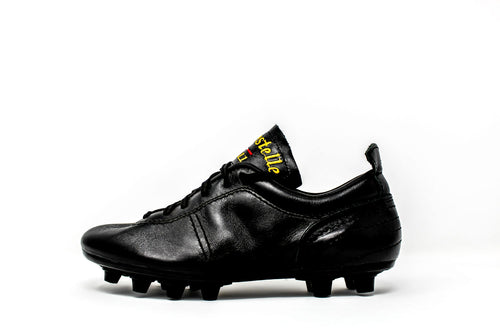 Akuna Cinquestelle Colibri FG Soccer Cleats, Calf Leather, 12 Conical Studs, Side View