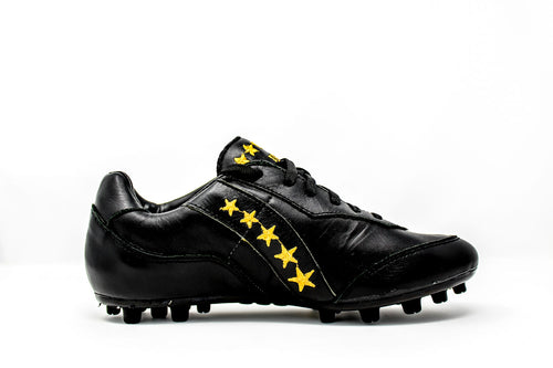 Akuna Cinquestelle Squalo AG Soccer Cleats, Calf Leather, 23 Conical Studs, Side View