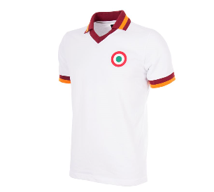 COPA AS ROMA 1980-81 Away Short Sleeve Retro Shirt