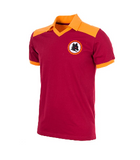COPA Football AS Roma 1980 Short Sleeve Red & Yellow Retro Shirt