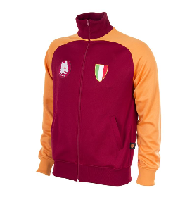 COPA Football AS Roma 1983 Long Sleeve Red and Yellow Jacket