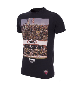 COPA Football Roma Tifosi Short Sleeve Black T-Shirt