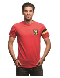 COPA Football Belgium Captain T-Shirt, Short Sleeve, Red