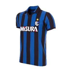 COPA Football FC Inter 1986 Short Sleeve Black & Blue Retro Shirt