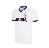COPA Football FC Inter 1986-87 Away Short Sleeve White, Black & Blue Retro Shirt