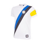 COPA Football FC Inter Away Captain Short Sleeve White, Black & Blue T-Shirt