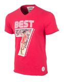 COPA Football George Best Miss World V-Neck T-Shirt