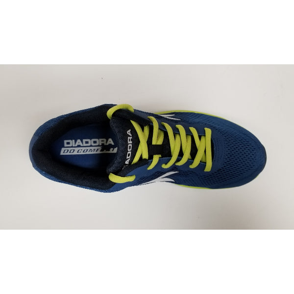 Diadora Swan Training Shoe, Navy & Fluo, Aerial View