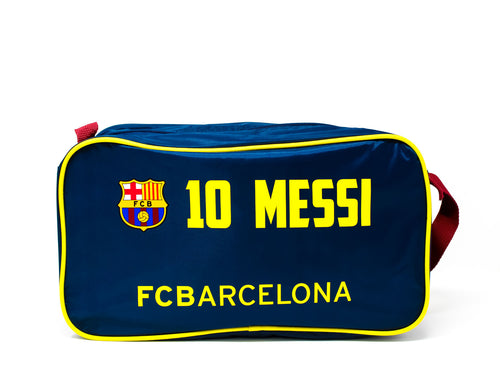 FC Barcelona Messi 10 Burgundy & Blue Boot Bag, Front View