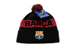 FC Barcelona Black & Red Knitted POM Beanie