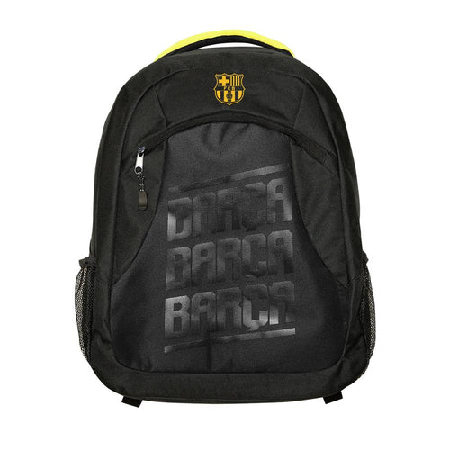 FC Barcelona Pattern Backpack, Black, Front View