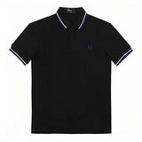 Fred Perry Slim Fit Twin Tipped Polo, Black & Royal