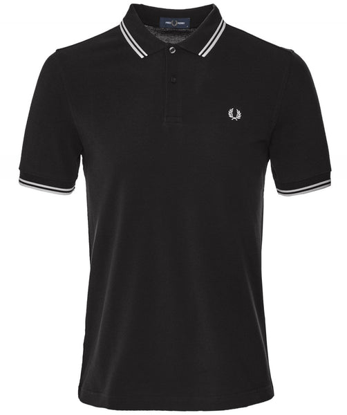 Fred Perry Tipped Polo Black
