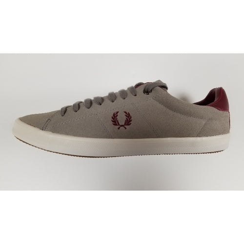 Fred Perry Howell Suede. Grey, Side View